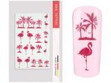 NailArt Tattoo Flamingo Palms