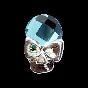 Bijou Tête de mort turquoise