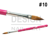 Pinceau Acrylique en aluminium strassé n°10