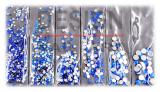 Pochette Strass Bleu multi-taille