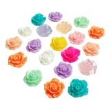 20 roses 3D multicouleurs