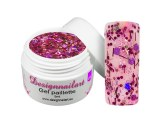 Gel UV Mix paillette Rose Pourpre