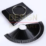 Mini Nuancier Noir 50 tips sur anneaux