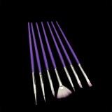 Kit de pinceaux gel et nail art violet (7pcs)