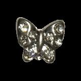 Bijou papillon argenté