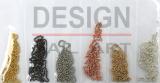 6 Chaînettes coloris métal