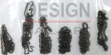 6 chaînettes noir