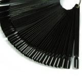 Nuancier éventail Noir 50 tips sur anneaux